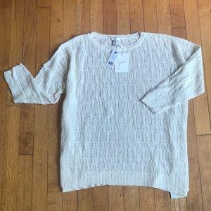 NWT Joie Linen 3/4 Sleeve Light Sweater